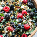 Summer Berry Kale and Quinoa Salad