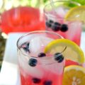 blueberry lemonade with homemade simple syrup