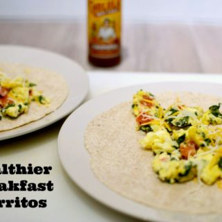 Healthier High Fiber Breakfast Burritos