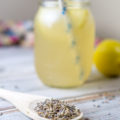 Refreshing Lavender Lemonade made from fresh lemons and lavender-infused water.