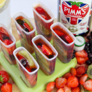 Pimm's Cup Boozy Popsicles