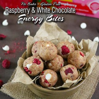 Gluten Free Raspberry White Chocolate Bites