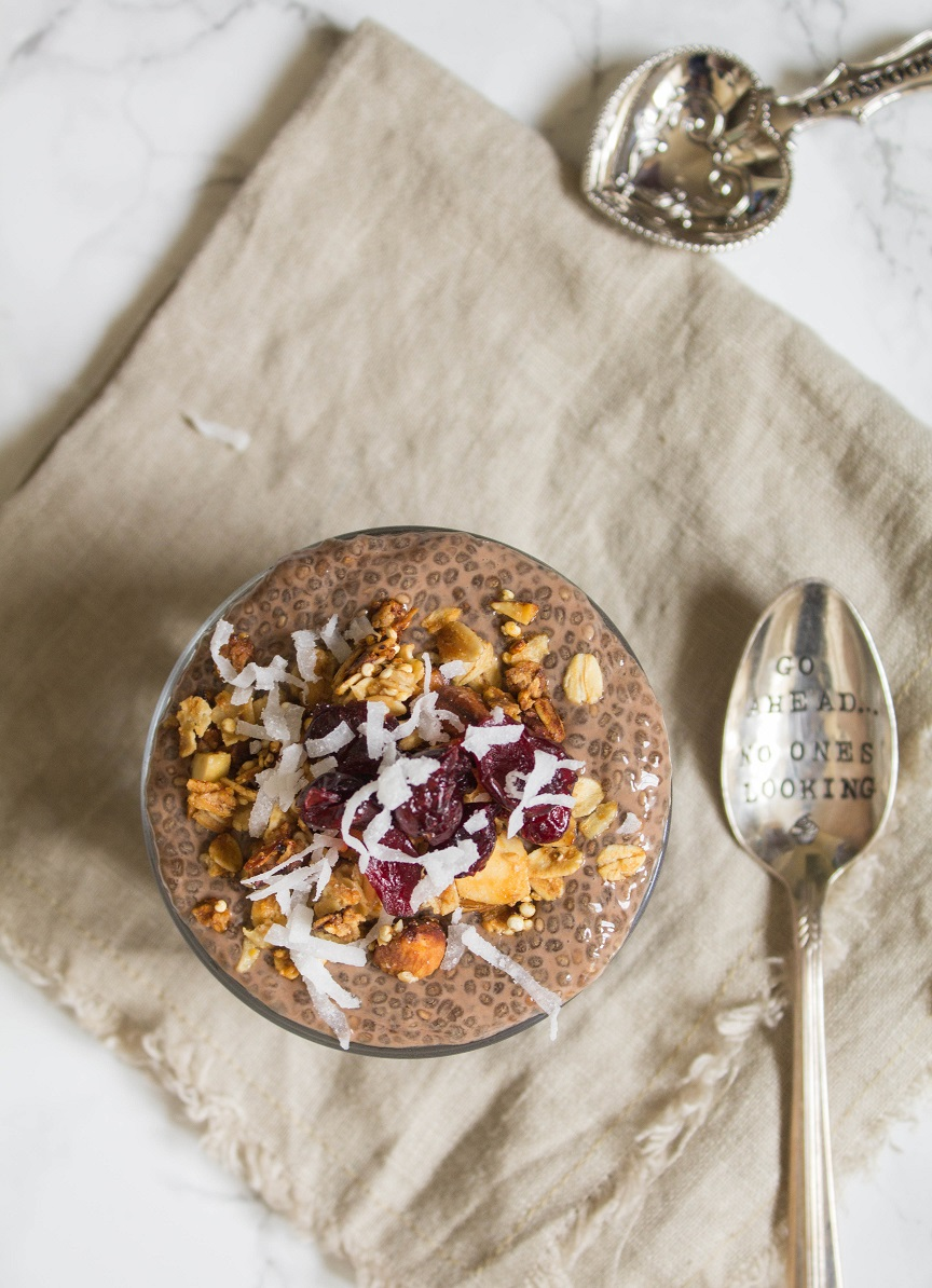 Overnight Chocolate Chia Pudding