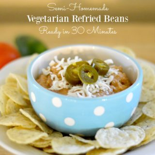 Vegetarian Refried Beans in 30 Minutes
