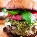 grilled caprese burger recipe