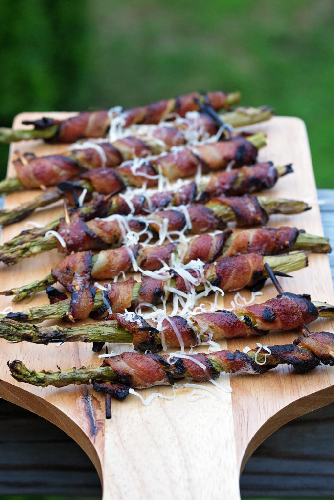 Grilled Bacon Wrapped Asparagus blends the flavors of asparagus, bacon, and parmesan in an easy grilled appetizer or side dish.