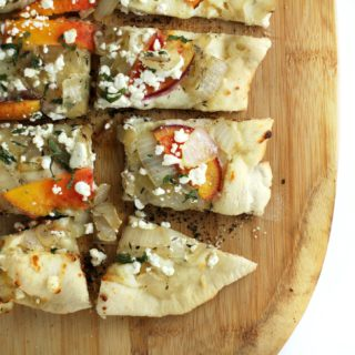Grilled Peach and Goat Cheese Pizza