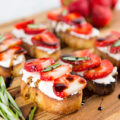 Strawberry Goat Cheese Toasts