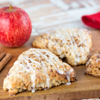 Toffee Crunch Apple Scones