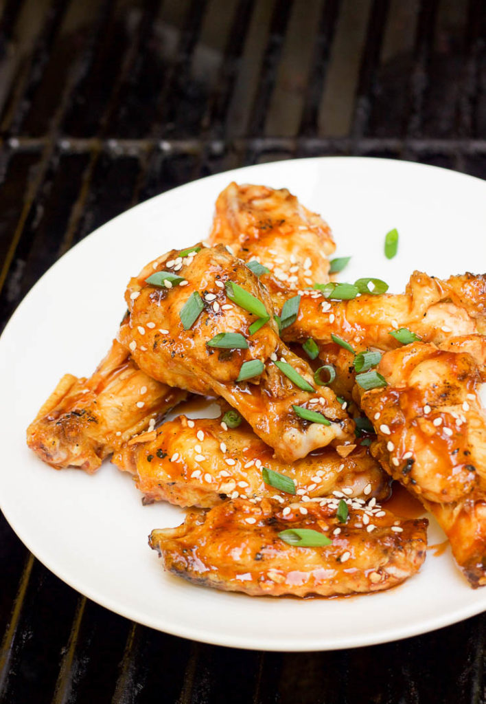 Grilled Peach Chipotle Wings