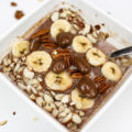 healthy breakfast bowl recipe with quinoa chocolate and banana