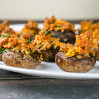 Dairy-Free Sausage Stuffed Mushrooms