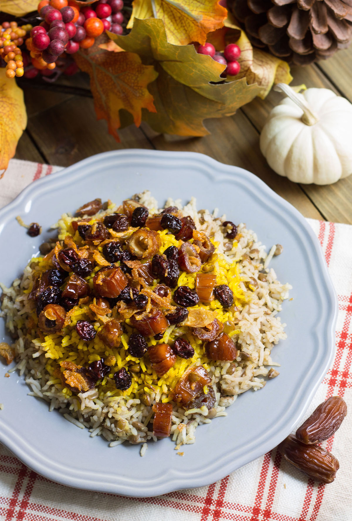Lentil Date Rice for Thanksgiving
