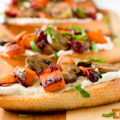 Sweet potato mushroom bruschetta with Asian flavors