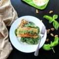 Walnut Pesto Salmon