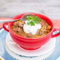 Slow Cooker Spicy Beef and Lentil Soup