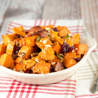 Fancy Sweet Potato Salad with Bacon