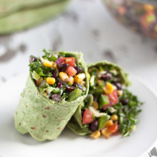 Black Bean Salsa Spinach Wrap