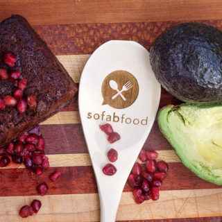 Avocado Pomegranate Brownies
