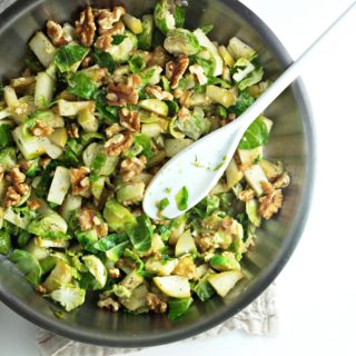 Miso Apples and Brussels Sprouts