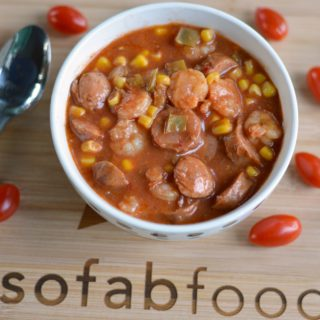 Spicy Shrimp and Sausage Soup Recipe