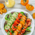 Enjoy this Persimmon Salad with homemade Persimmon Vinaigrette Dressing all winter long when Persimmons are in season.