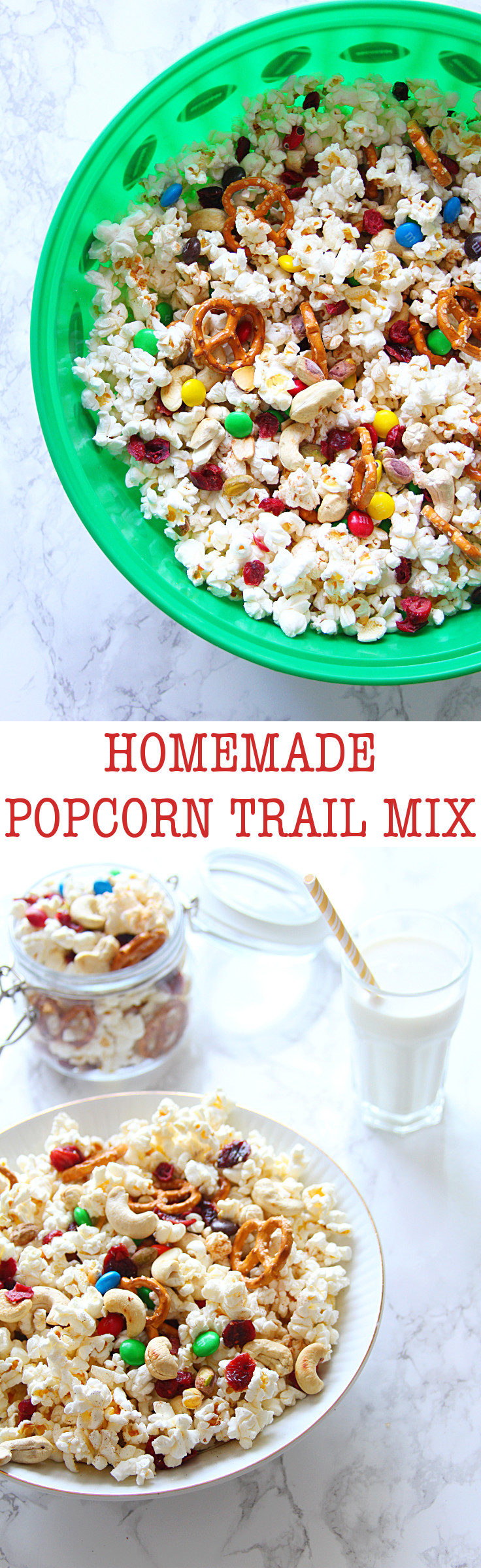 Looking for a quick after-school snack option that even your kids can help make? This delightful Popcorn Trail Mix is the thing that dreams are made of!