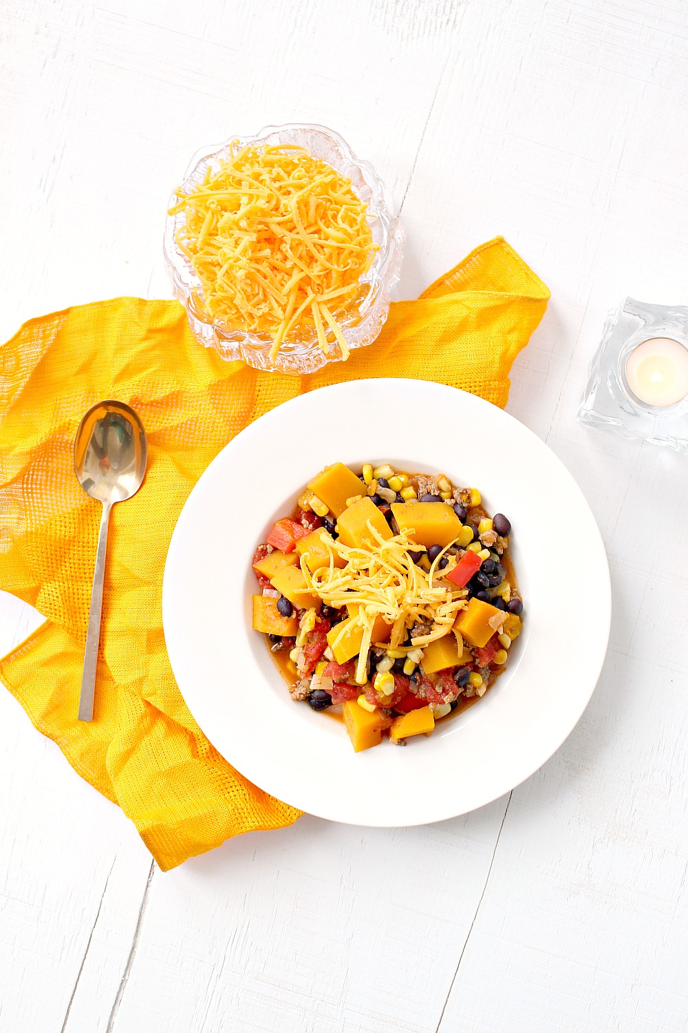 squash and turkey one pot chili