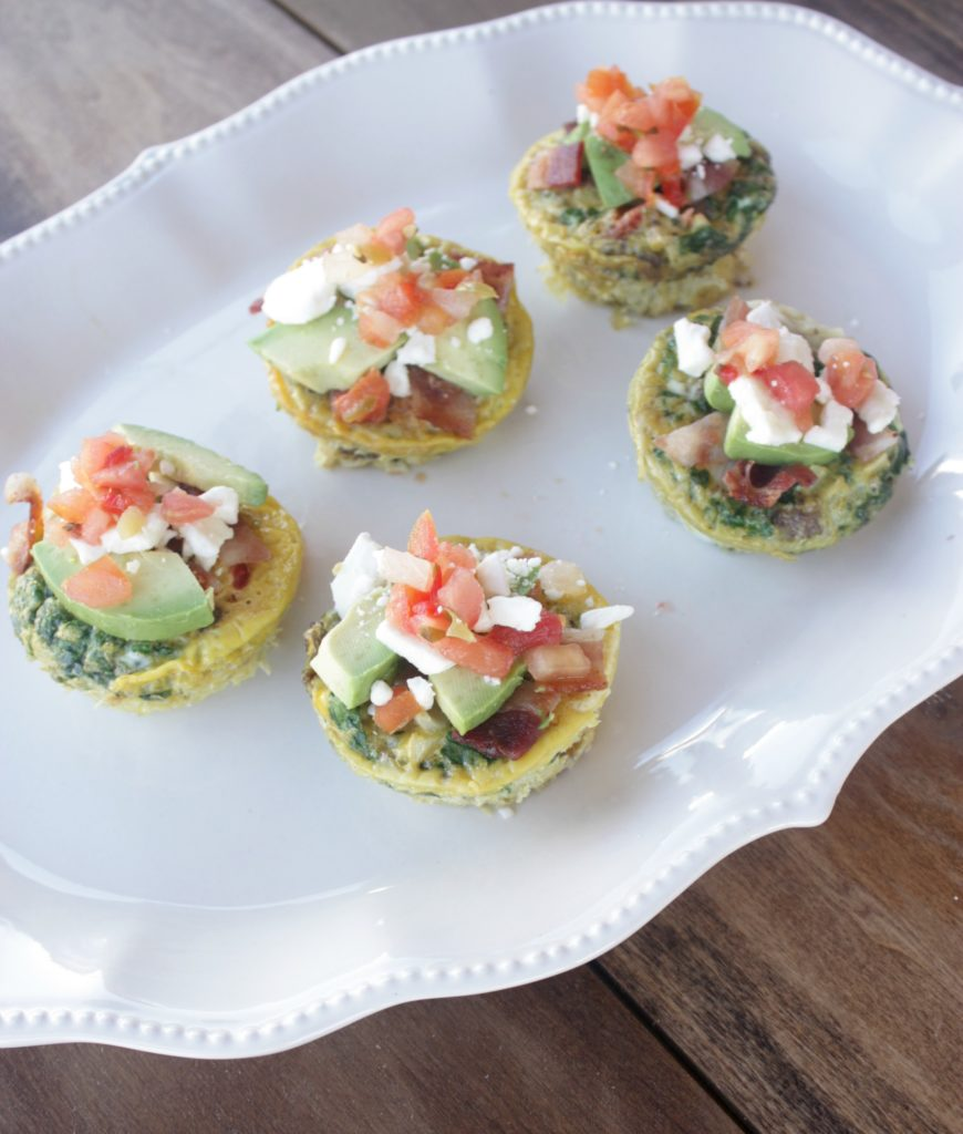 Make-ahead Turkey Sausage Spinach Egg Muffins are a great for a healthy breakfast; add your favorite toppings for a delicious meal on the go.