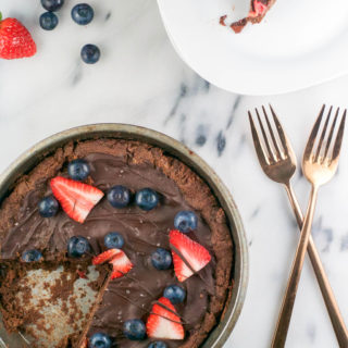 Flourless Chocolate Cookie Pizza