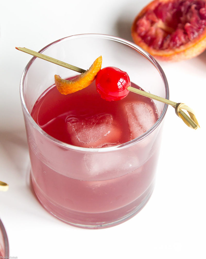 Sit back at the end of the day and sip on this seasonal Blood Orange Old Fashioned Cocktail made with quality bourbon, fresh blood orange juice, and a dash of bitters.