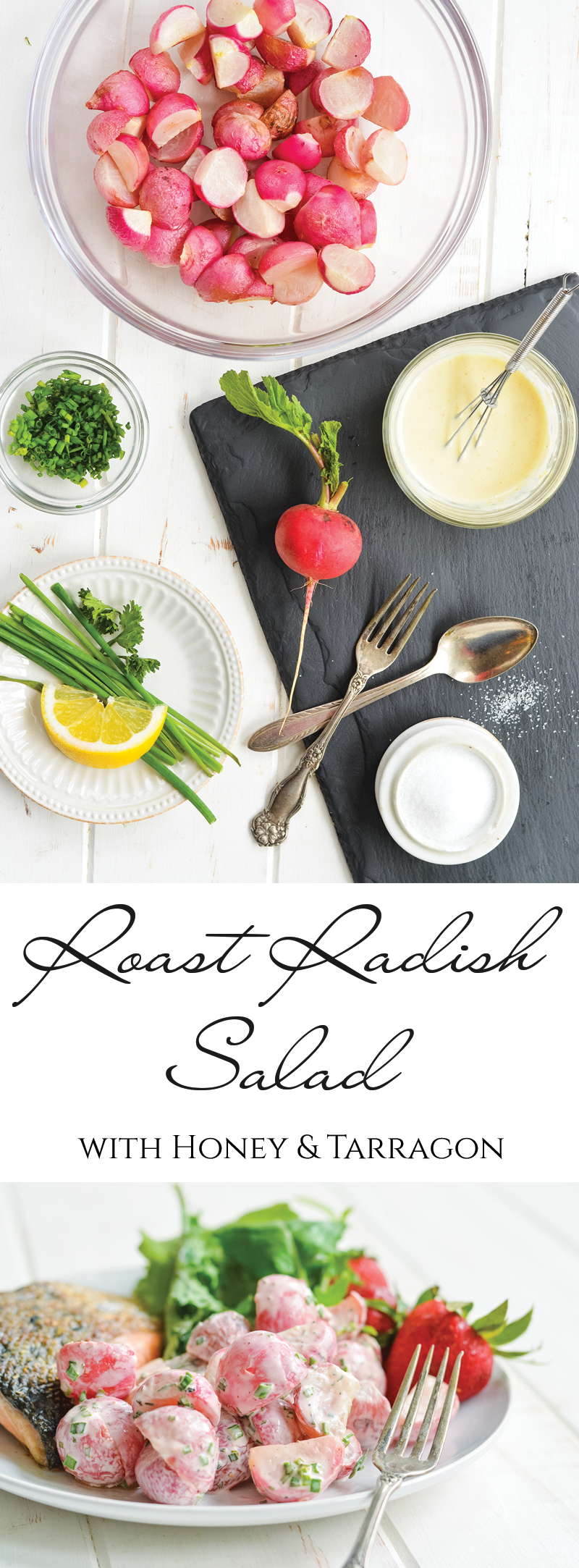 This simple and delicious Honey Tarragon Roast Radish Salad recipe will bring a touch of flavor and whimsy to any spring menu! Serve this delightfully colorful salad with lunch, brunch, or your favorite casual supper.