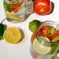 Sip on this Spicy Bloody Mary Infused Water with the bold flavors of tomatoes, lemons, limes, and the distinct kick of jalapeño peppers. You get all the taste of your favorite brunch cocktail in a refreshing, non-alcoholic drink with health benefits.