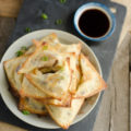 You'll want to pick up colorful rainbow carrots, purple cabbage, green onions, and more at your local farmers market to make these Vegetarian Crispy Baked Wontons for lunch, dinner, snacks, or spring and summer parties.