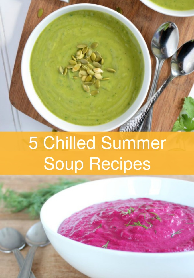Beat the heat with a luscious bowl of vegetable goodness at the end of the day when you serve these five Chilled Summer Soup recipes made with fresh farmers market produce.