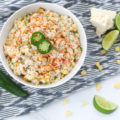 Showcase this Mexican Street Corn Pasta Salad recipe as the star side dish at all of your summer gatherings this year. Bursting with flavor and textures, everyone will love this unique side!