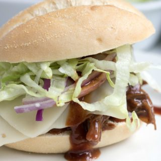 Slow Cooker BBQ Slider Sandwiches