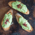Sweet Pea and Bacon Crostini