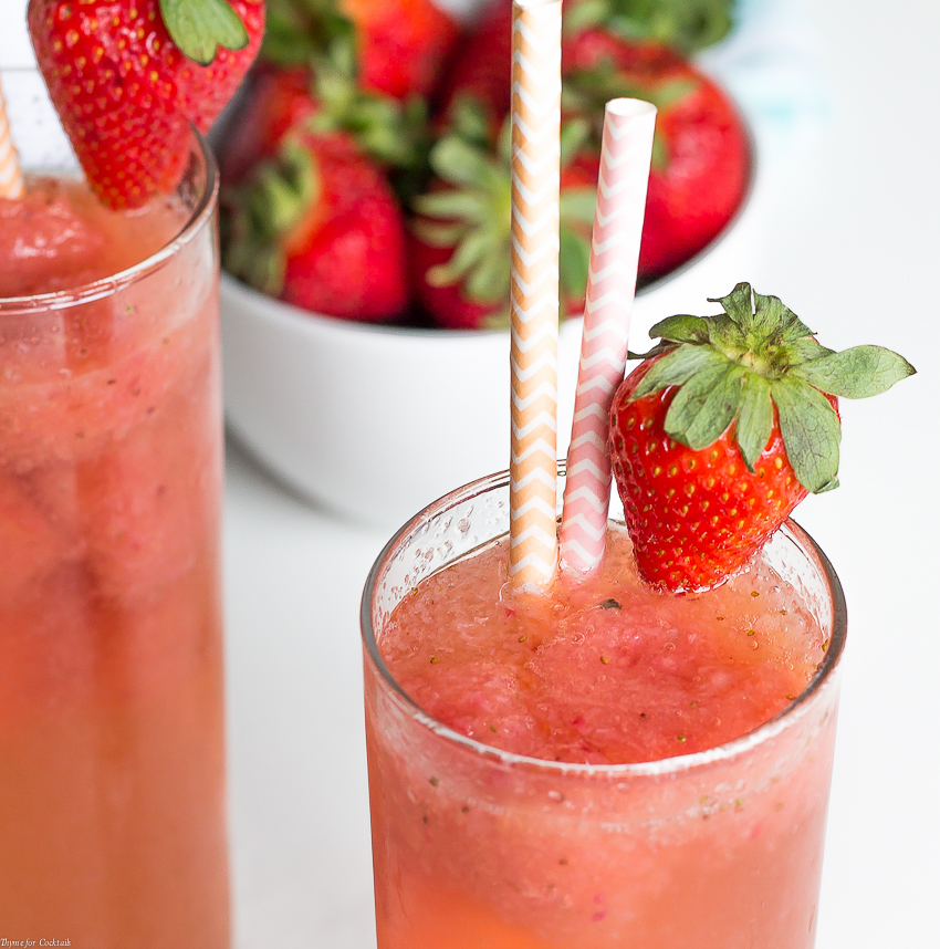 The next time you plan an over-21 party for your friends, you need to make these gorgeous Strawberry Cantaloupe Wine Sparklers made with fresh fruit for a refreshing adults only treat!