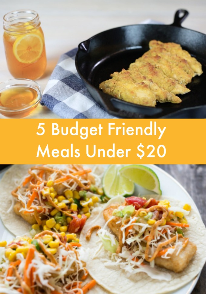 Great tasting meals don't have to break the bank. Save on your next trip to the grocery store when you make these five Budget Friendly Meals Under $20.