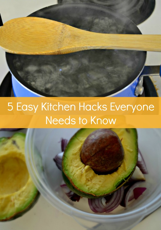 There are five easy Kitchen Hacks everyone needs to know to make their culinary life easier. You will want to share these helpful tips with your friends, proving to them you are the most kitchen savvy foodie in town.