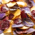 These Crispy Beet Chips and Potato Chips are a simple and healthy alternative to store-bought chips. With bold, bright colors and fresh veggie flavors, these chips are a sure-fire hit this summer!