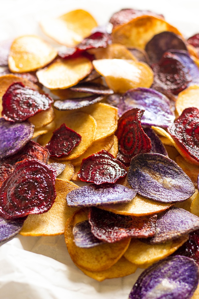 Crispy Beet and Potato Chips