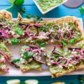 You can enjoy pizza night out on the patio when you make this Grilled Chimichurri Steak Pizza recipe. Grilling the pizza dough adds a smoky essence to the pizza and brings on the flavors of summer.