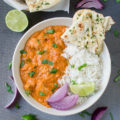 This simple Indian Butter Chicken Masala Curry is an easy weeknight meal that's perfect for entertaining guests. This restaurant-style, Indian-inspired dish is full of bold and spicy flavors that will satisfy any palate.