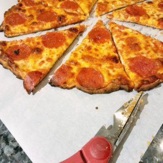 Clean Cut Pizza with Kitchen Scissors