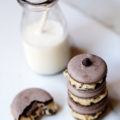 You will get the best of both worlds when you make these Chocolate Chip Cookie Dough Macarons the next time you are craving an indulgent treat. Cookie dough within a cookie...does it get any better than that?