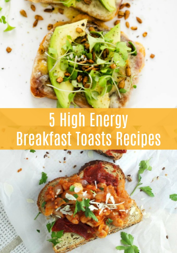 You are going to love the benefits of eating one of these five High Energy Breakfast Toast recipes first thing in the morning. Who knew starting your day could be this simple and delicious?