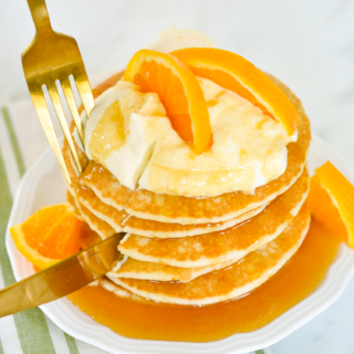 Crepe Suzette Inspired Pancakes