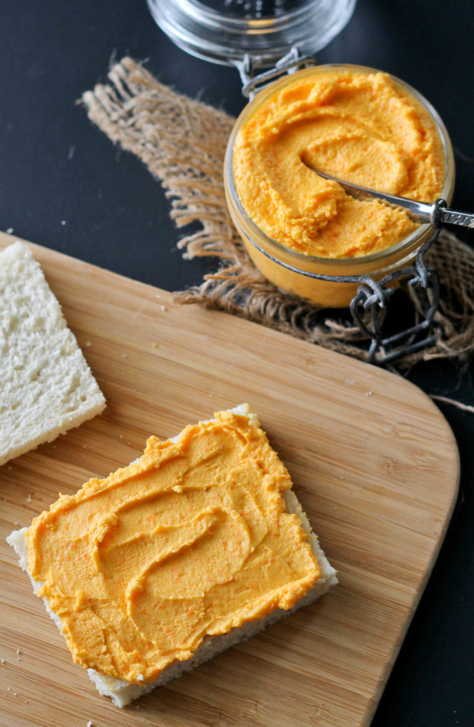 Your afternoon needs this snackable Cheesy Carrot Spread recipe for a healthier pick me up that is as tasty as it is good for you.